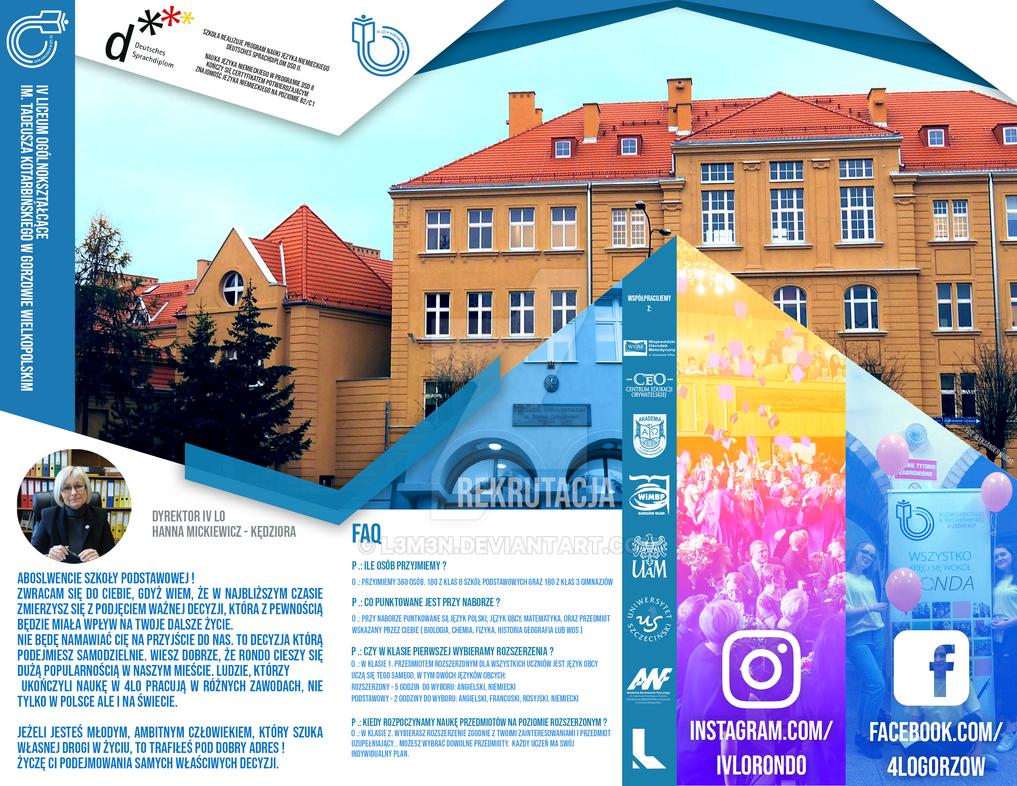 Leaflet - IV LO Gorzow bck by L3M3N