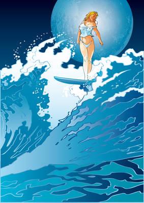 Vector Beauty Surfing Venus