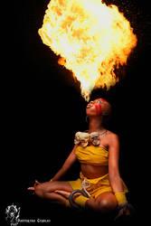 Yoga Fire! by Panterona
