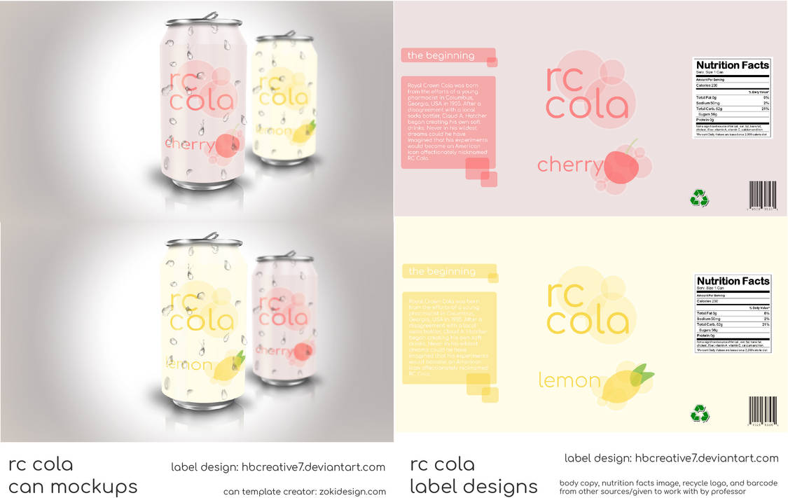 RC Cola Can/Label Designs by