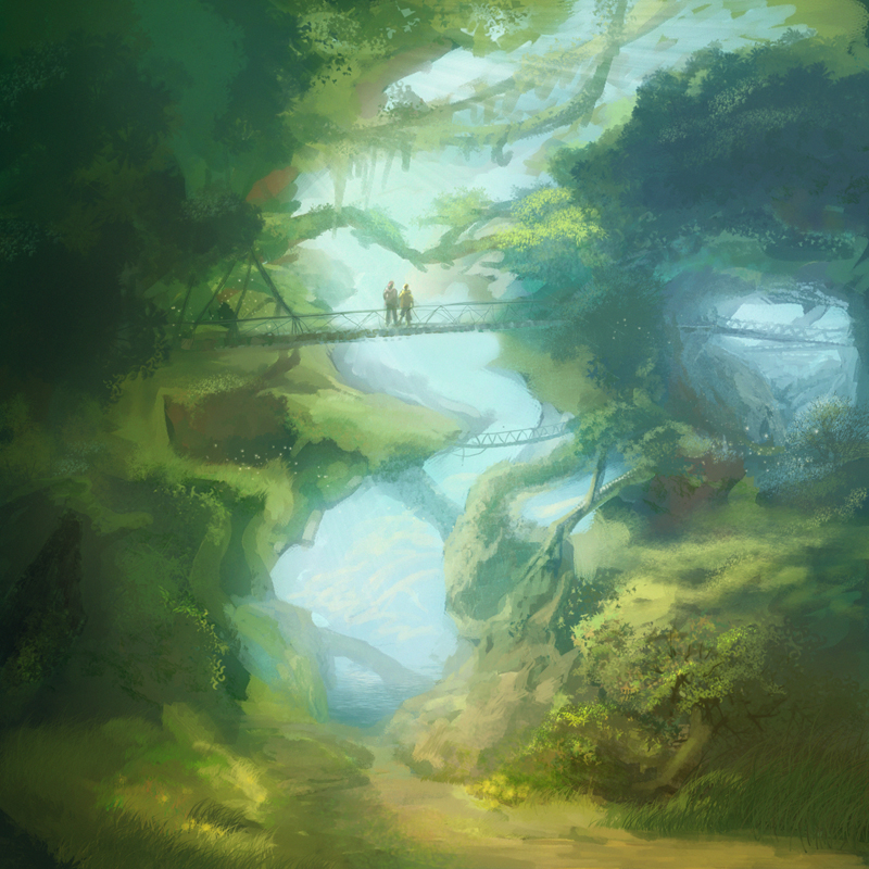 Jungle Boardwalk by angrymikko