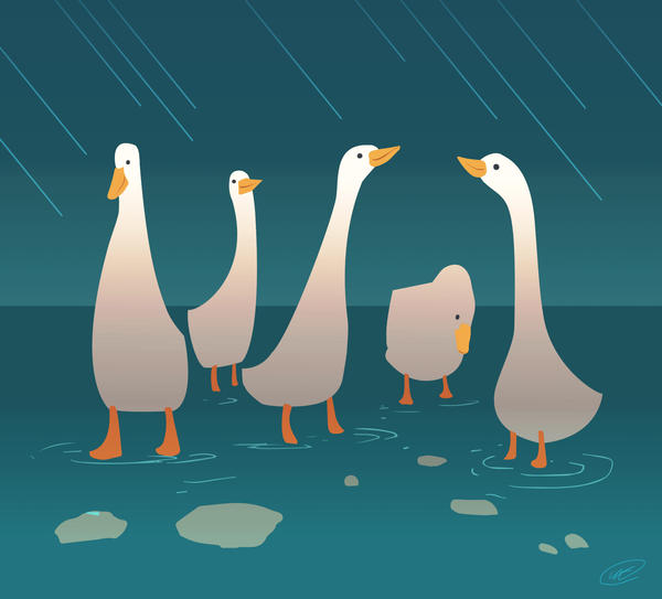 Like ducks under the weather by angrymikko