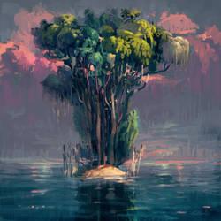 Tiny Jungle Island by angrymikko