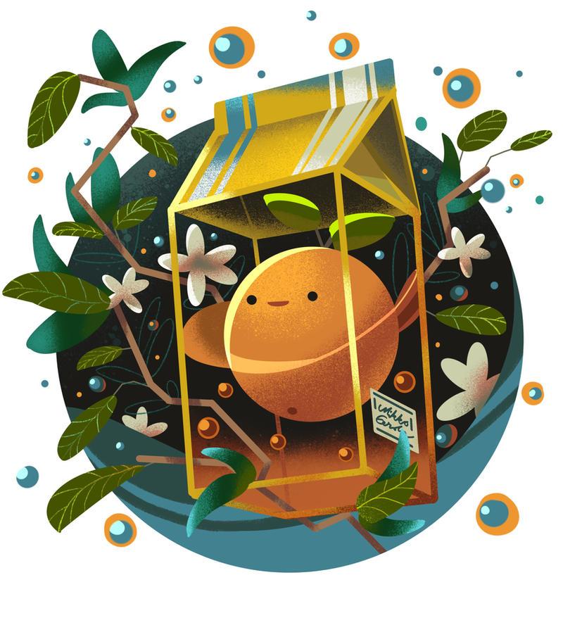 Orange Juice by angrymikko