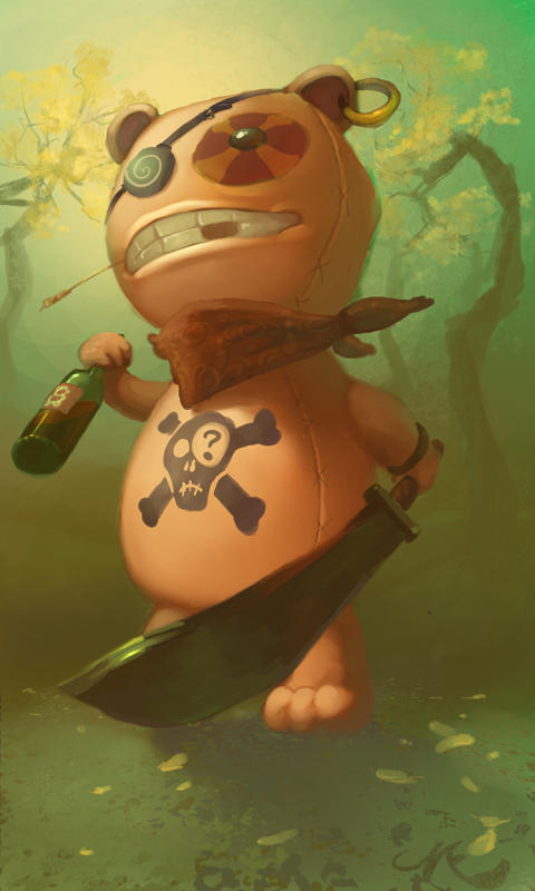 Pirate-teddy by angrymikko