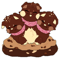 Soft Baked Triple Chocolate Chip Cookies by Yanchamu