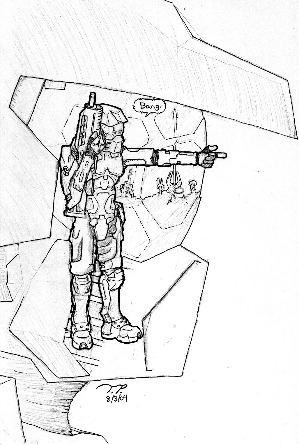 Halo master cheif free coloring pages for Master chief coloring pages