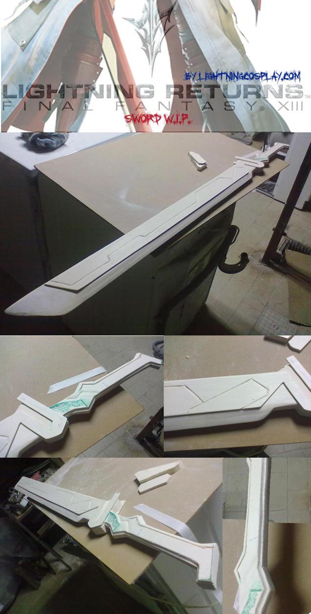 Lightning's sword WIP from Lightning returnsFFXIII by LightningTheArtist