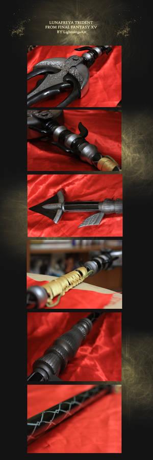 Lunafreya Trident cosplay  from Final  Fantasy xv