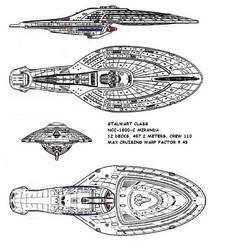 Federation vessel Stalwart Class USS-Miranda-C