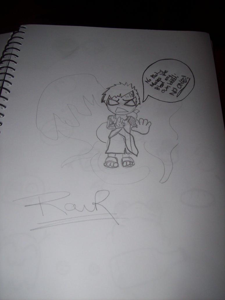 Gaara sketch. by Gaara-BlazeOfSand