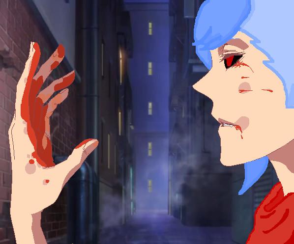 Shoji just killed a human by YumiChanLovesTeddys