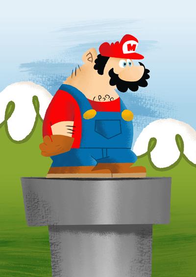 Super Mario by fubumeru