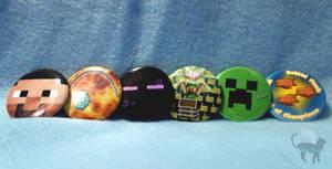 Minecraft Button Set by Meip