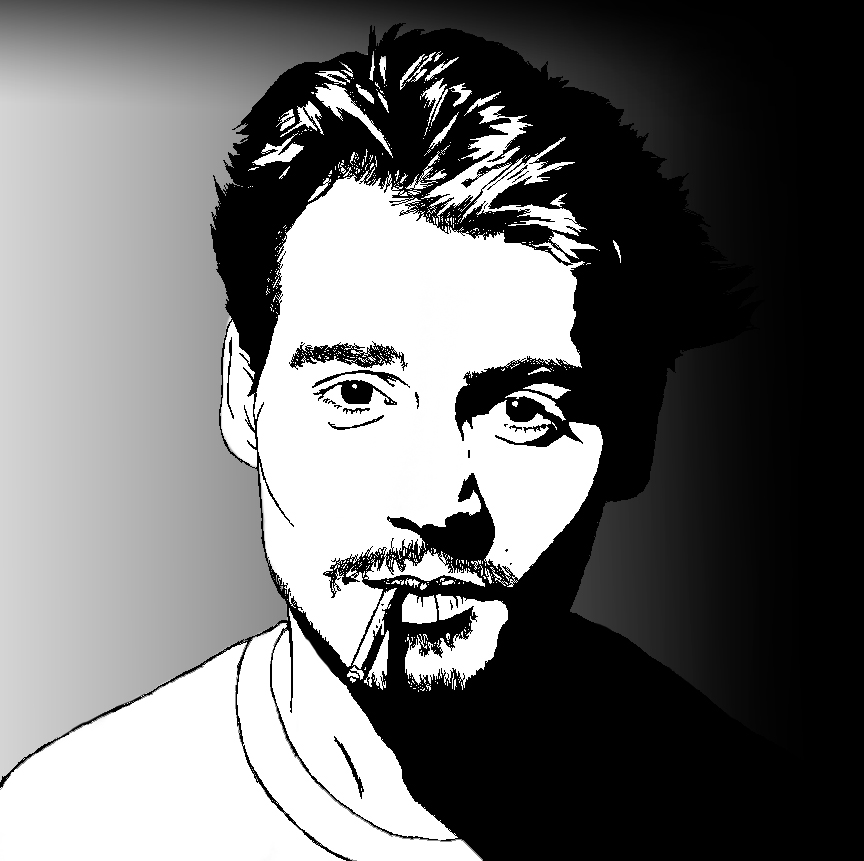 Digital Painting Line Art : Johnny depp line art by artsyashley on deviantart