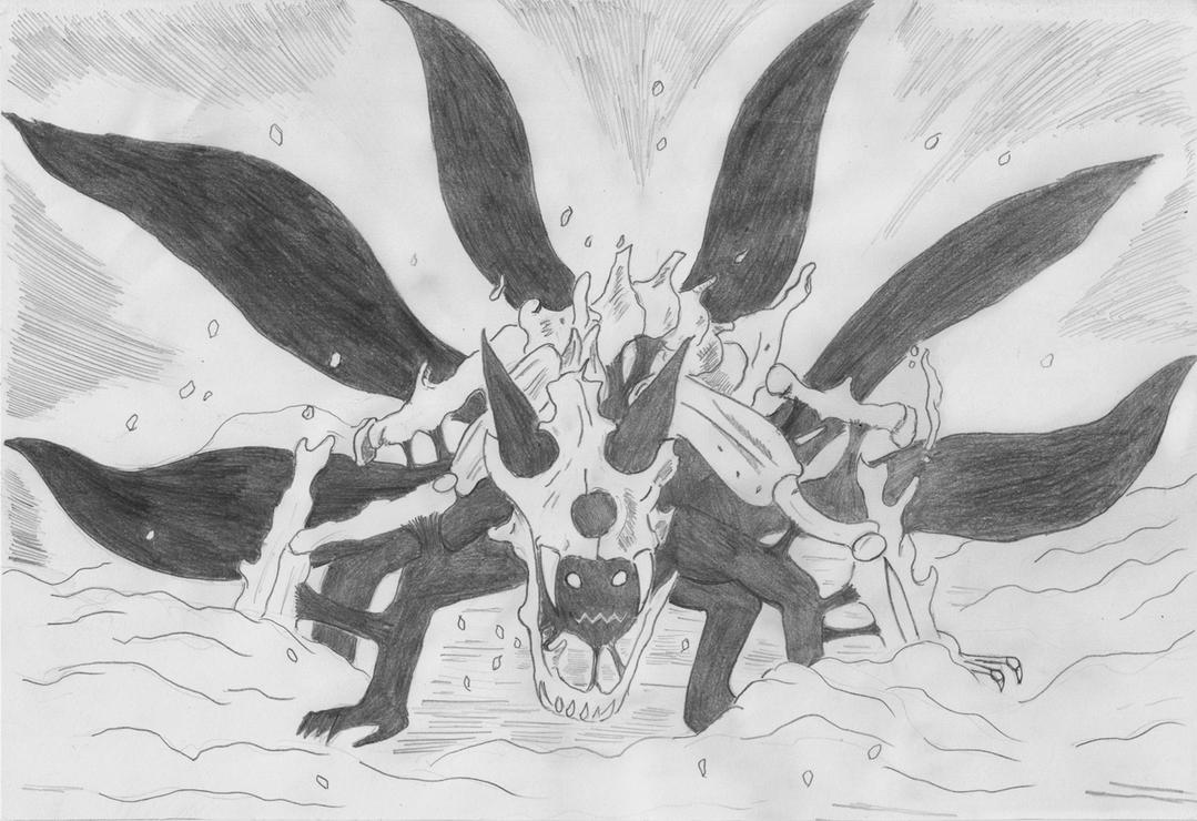Naruto - 6 Tails Kyubi Form by nightmare333 on DeviantArt