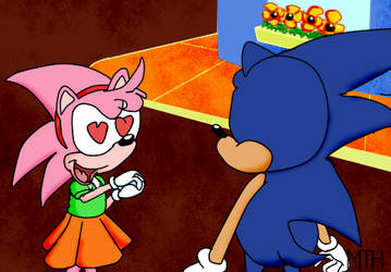 NAOSTH - Amy meets Sonic by Marcusthehedgehog