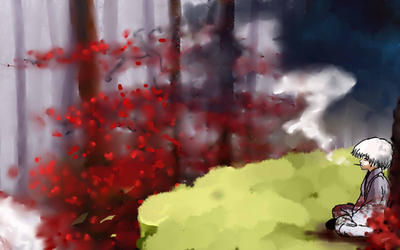 Red trees by DekaHussein