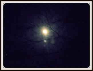 A shinny moon