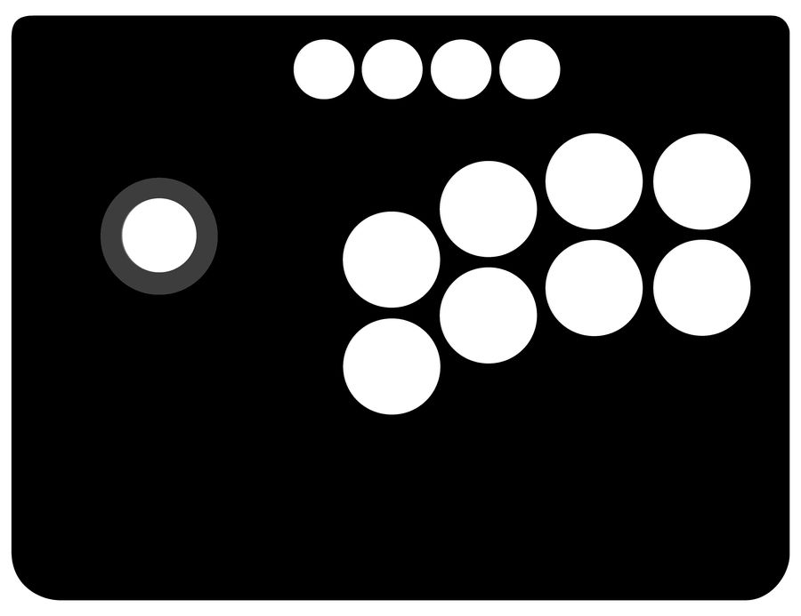 Mayflash Universal Arcade Stick Template by One-Mister-Badguy on