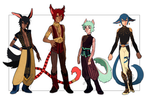 Adopts 15-18 [Auction- Closed] by sandflake-adoptables