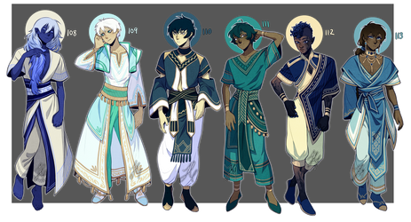 Adopts 108-113 [Auction - Closed]aka Oops All Blue