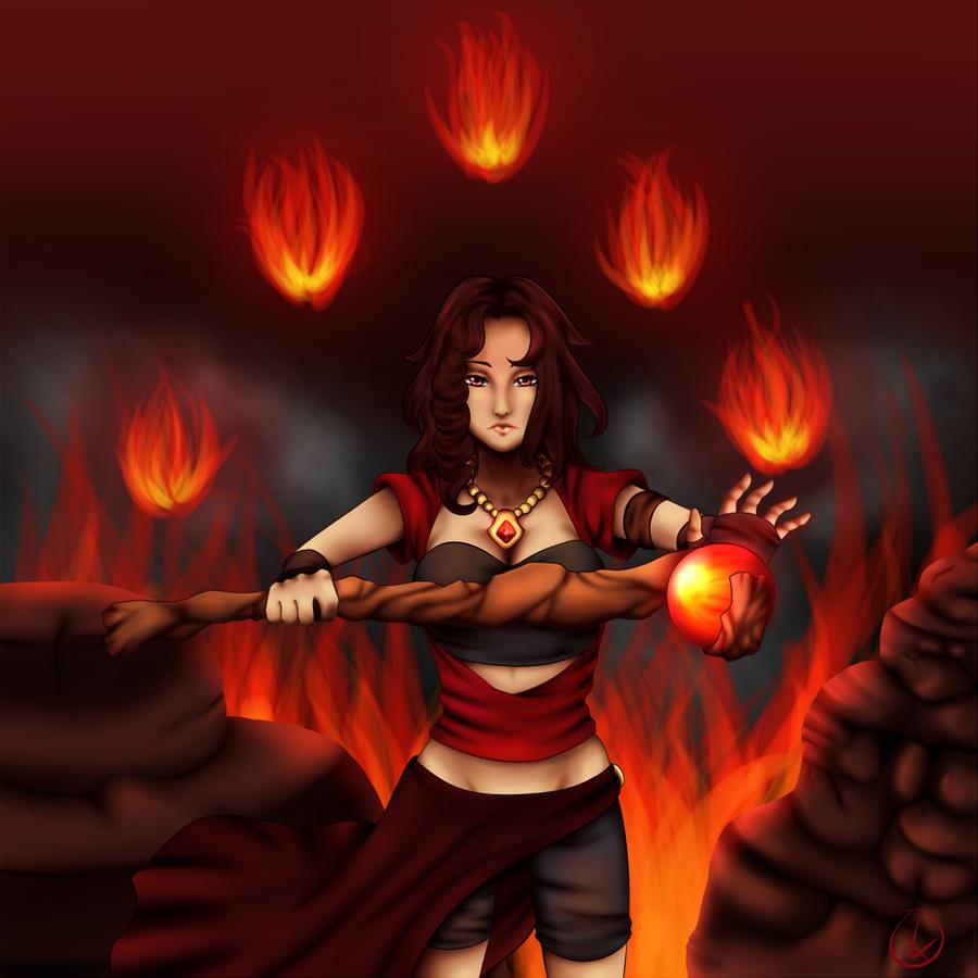 :Firegah: Fire spell by KirCorn