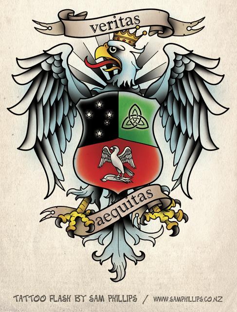 Polish Eagle Tattoo by *Sam-Phillips-NZ on deviantART