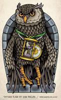 Owl Tattoo Half Sleeve