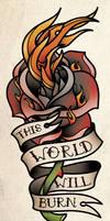 Flame Rose Tattoo