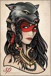 Wolf Skin Gypsy Tattoo Print
