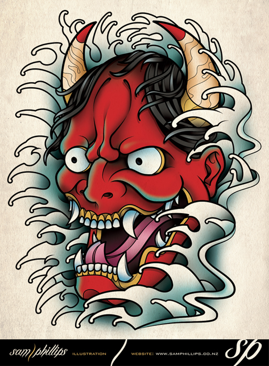Hannya Mask Tattoo By Sam Phillips NZ On DeviantArt