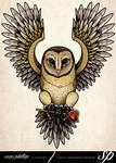 Tasmanian Masked Owl Tattoo