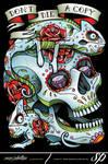 Chameleon Sugar Skull Tattoo Style Clothing