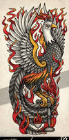 Pheonix Libra Scales Tattoo