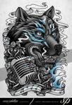 Wolf Spirit Half Sleeve Tattoo