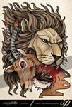Lion Good Evil Tattoo