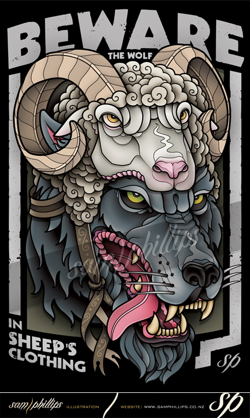Wolf In Sheep's Clothing Clothing Design by Sam-Phillips-NZ