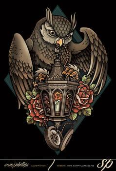 Lantern-owl-tee