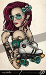 Skater Girl Derby Tattoo
