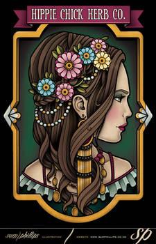 Hippie Chick Herb Co. Logo Design