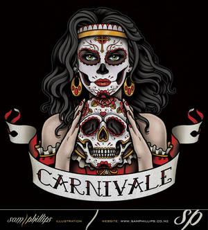 Carnivale Day Of The Dead Gypsy Logo