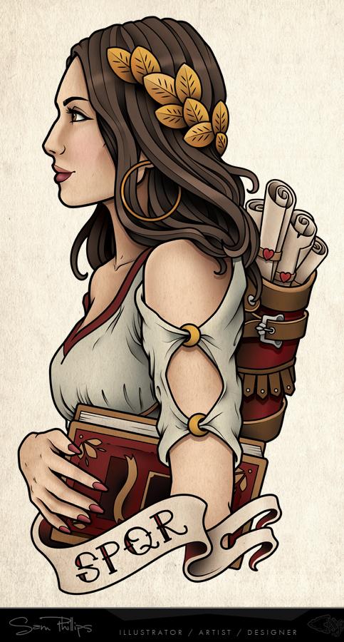 Roman Girl Print Commision