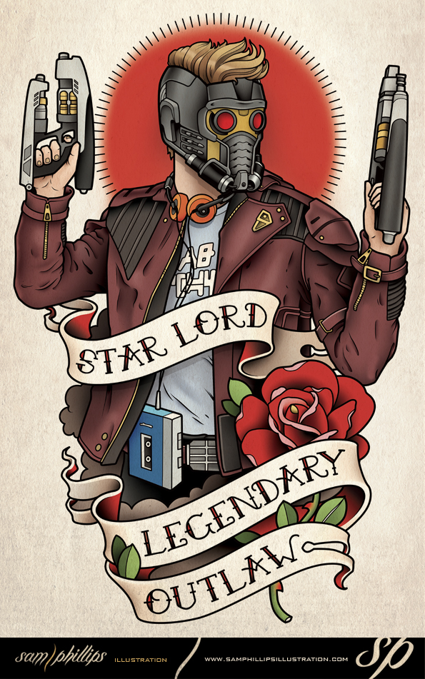 Star Lord Tattoo Guardians of the Galaxy