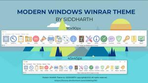 Modern Windows | WinRAR Theme