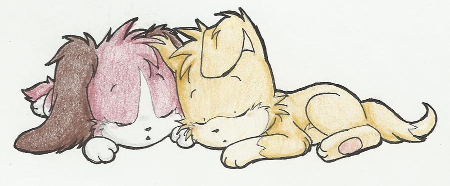 LilVee and Coshi by XMizanX