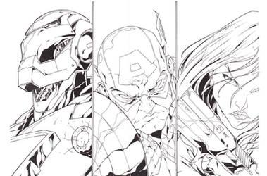 Avengers Part 1 Ink by Yangsberg