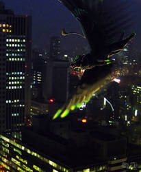 Above the city lights by Haituva