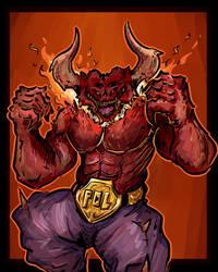Pro League Demon Fighter by RadicalGator