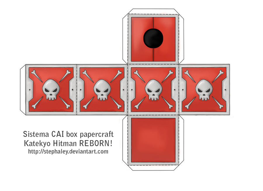 Sistema CAI box papercraft by Stephaley